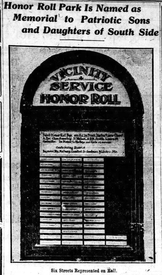 Honor 2 novemner 9 1918