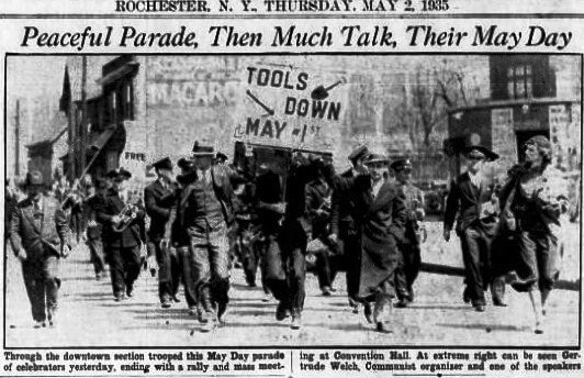 May Day parade in Downtown Rochester, NY, May 02, 1935, Rochester Democrat and Chronicle