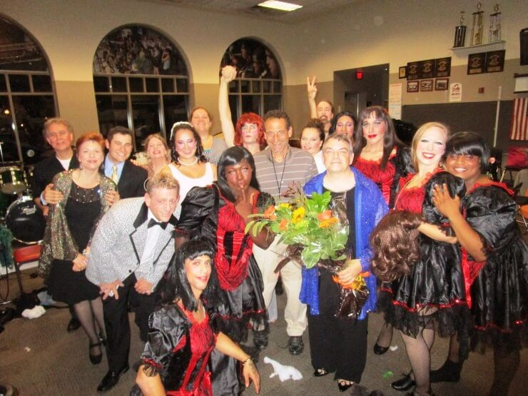 With the La Cage aux Folles players