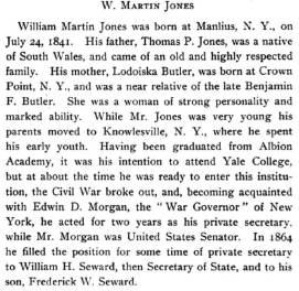 Proceedings and Committee Reports, Volume 30 By New York State Bar Association. First page of Jones' obituary FULL OBITUARY AT END