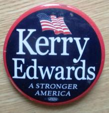 Campaign button from the 2004 presidential campaign [From David Kramer's collection]