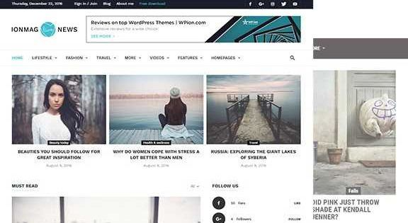 2019 Updated ionMAG Premium News Theme