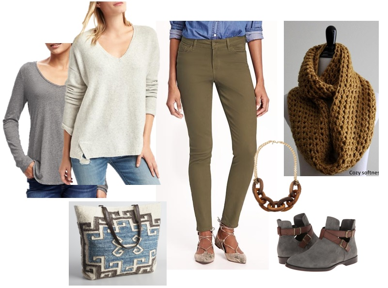 Neutral Fall Look for Tall Ladies
