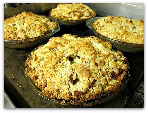 dutch apple pie fresh baked