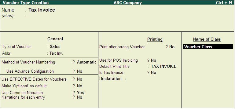 Voucher Class for Auto-Calculation of VAT in Tax Invoice  www - how to make vouchers
