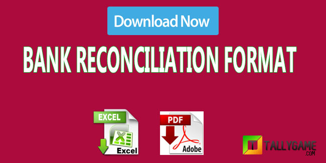 Bank Reconciliation statement format in excel and pdf -Download