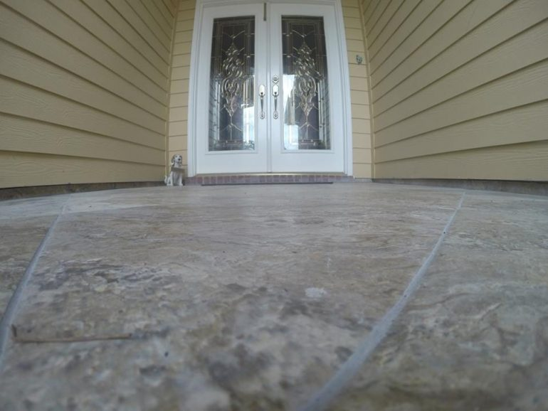 Tile Setting on Back proch and Front Porch Tally handy man - proch
