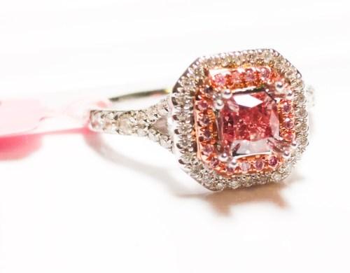 Medium Of Pink Diamond Ring