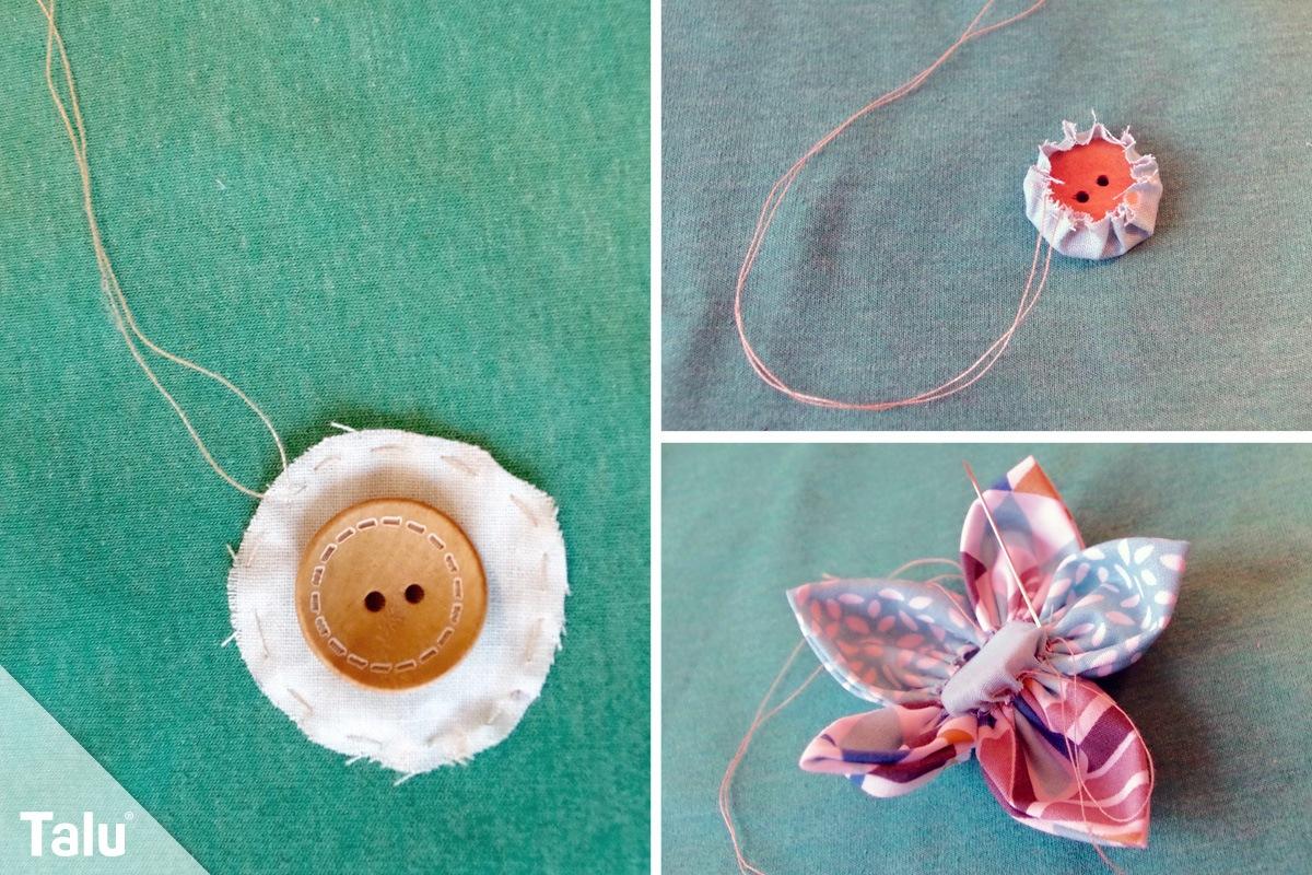 Stoffblumen Selber Machen Blumen Basteln Aus Stoff Foto