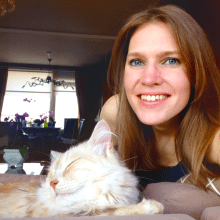 Tamara Rouwendal and her cat Pip
