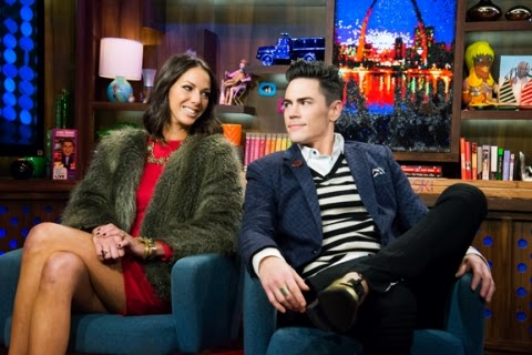 Kristen Doubte and Tom Sandoval on WWHL with Andy Cohen