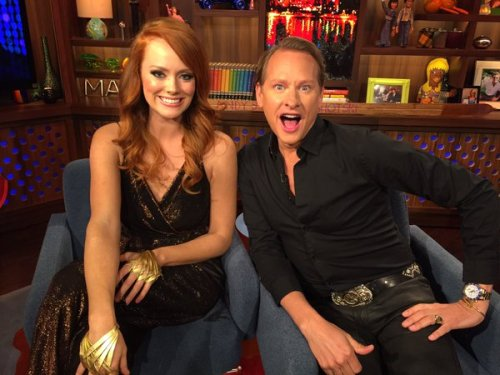 WWHL Kathryn and Carson