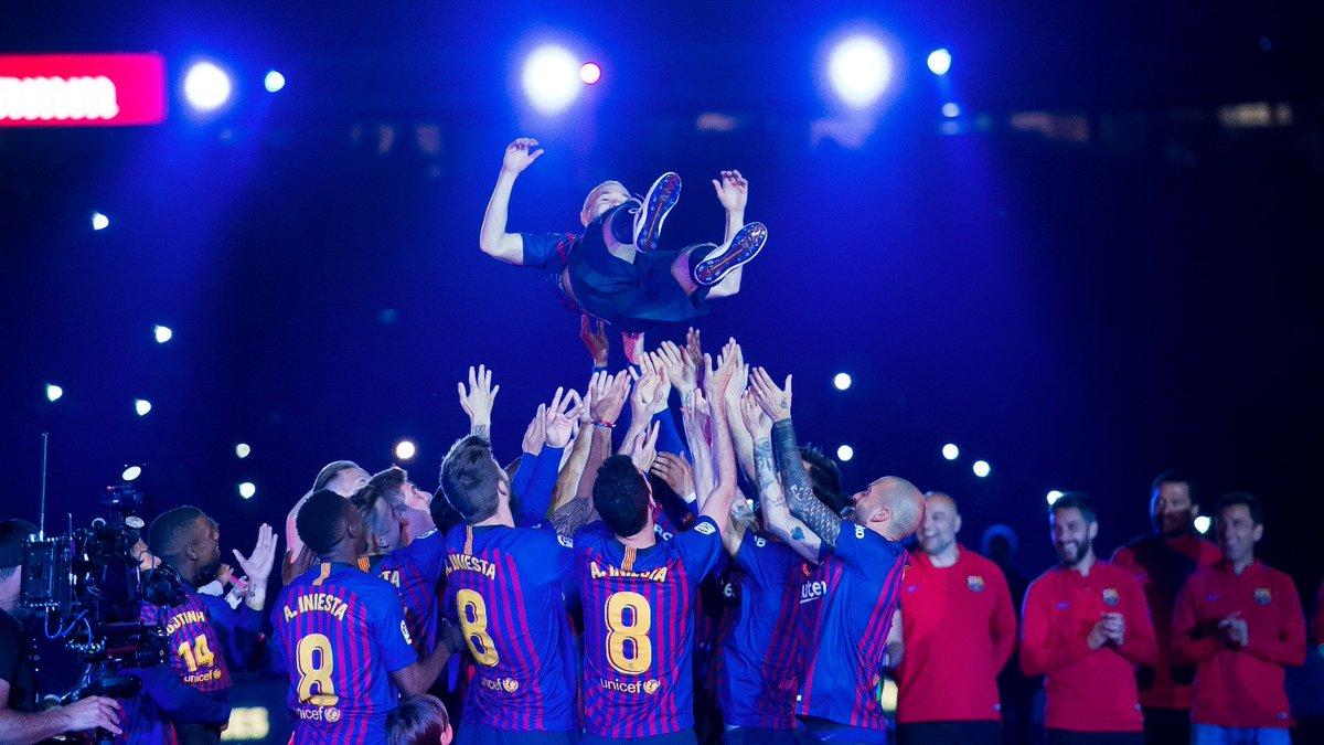 "Iniesta: ""Ha sido un orgullo representar a Barcelona"""