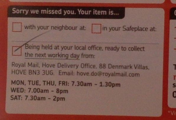 Royal Mail must sort Sorting Office opening times - Tamebay
