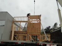 Panelized exterior wall construction