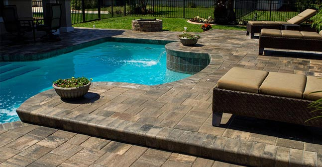 Pool Area Renovations : Brick pavers pool deck remodeling tampa bay area