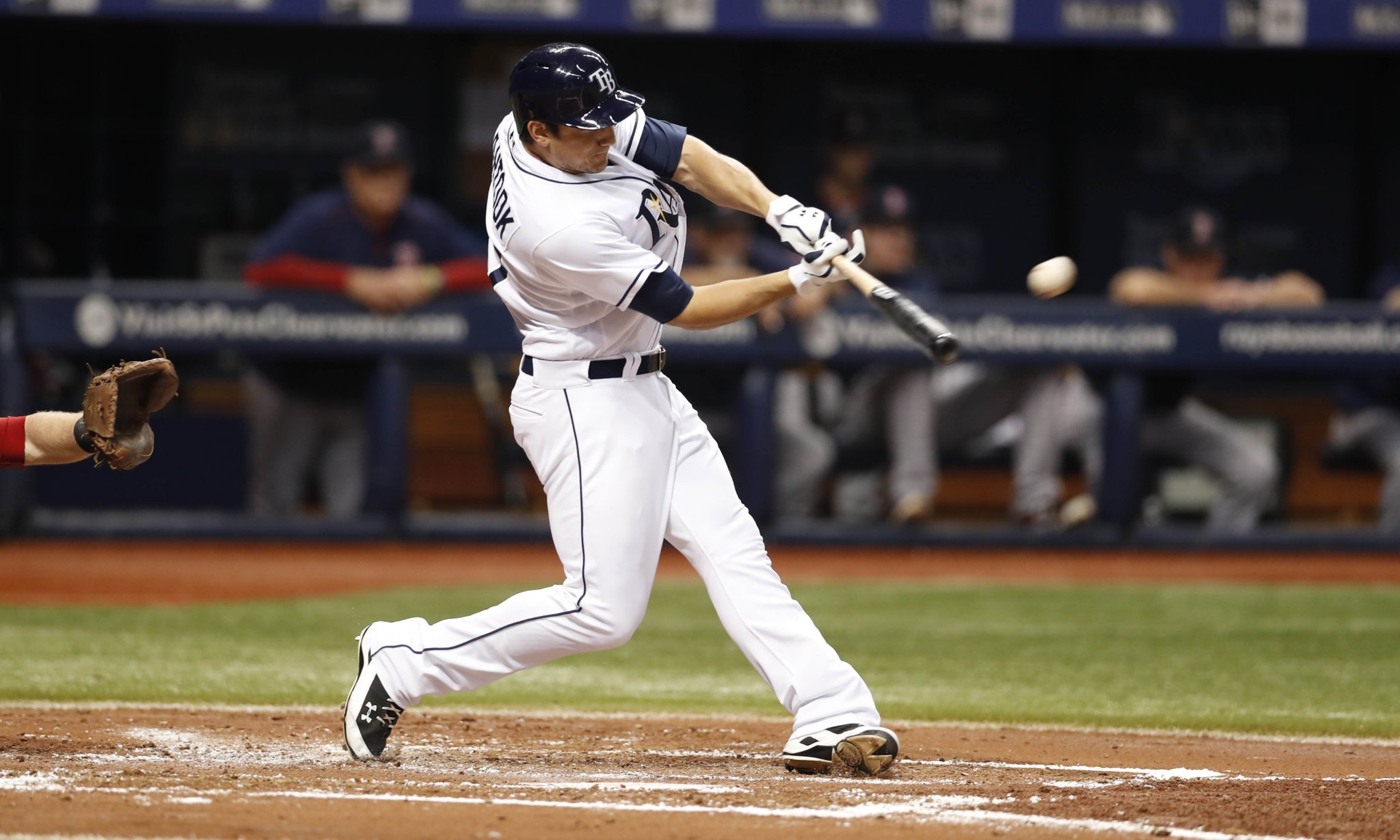 Mikie Mattock's solo shot accounted for the Rays only run Friday night. (Photo Credit: Tampa Bay Rays)