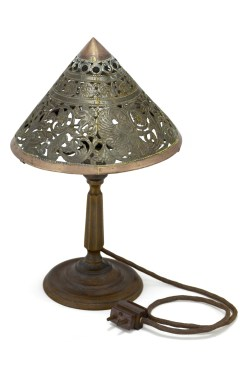 Peacock Table Lamp, c1910