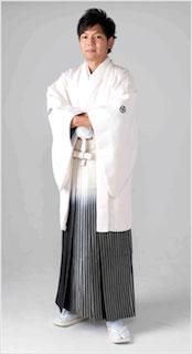 成人式の白色の袴1