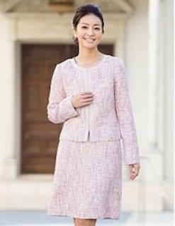 入学式で母のピンクのスーツ 2