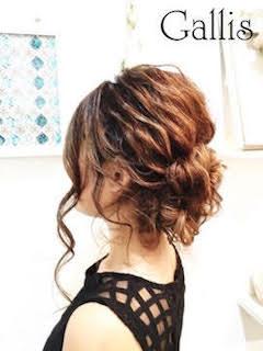 2016年の成人式のミディアムの髪型で編み込み編5