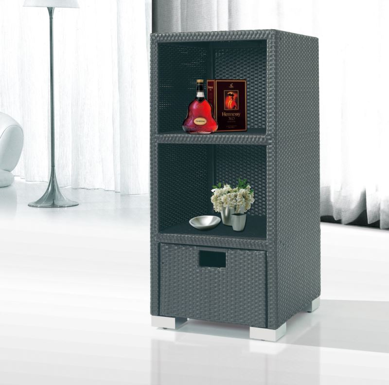 Outdoor Sofa Rattan Tanfly Tf-9310 Black Rattan Woven Wine Cabinet