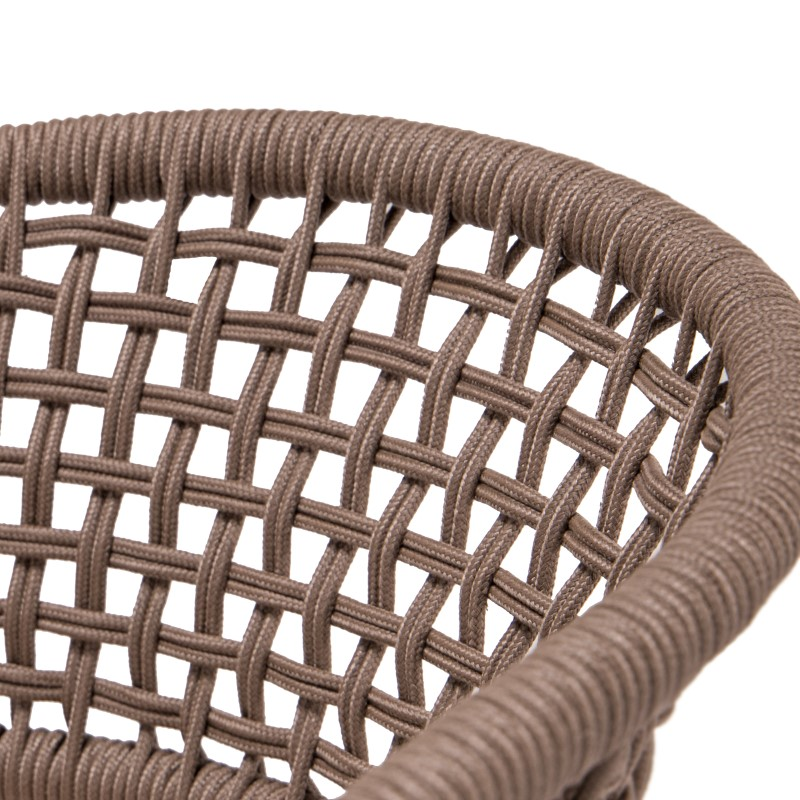 Lounge Sofa Rattan Single Rope Chair Patio/modern Side Table/outdoor Furniture