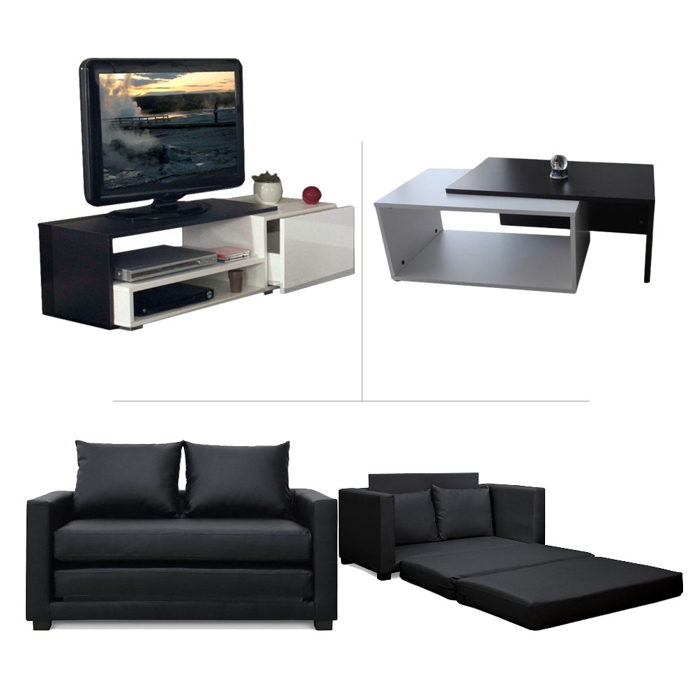 Table Basse Tv Pack Living Room Meuble Tv Canapé Lit Table Basse Meubles