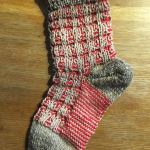 """2-farbige """"Mystery-Socken"""", gestrickt von Verena Amann"""