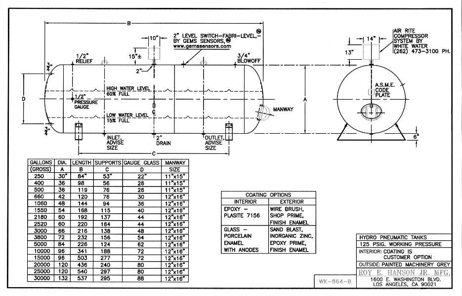 water well pressure tank schematic