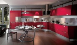 Deluxe Expensive Red Kitchen Design Gallery Expensive Red Kitchen Design Red Kitchen Cabinets