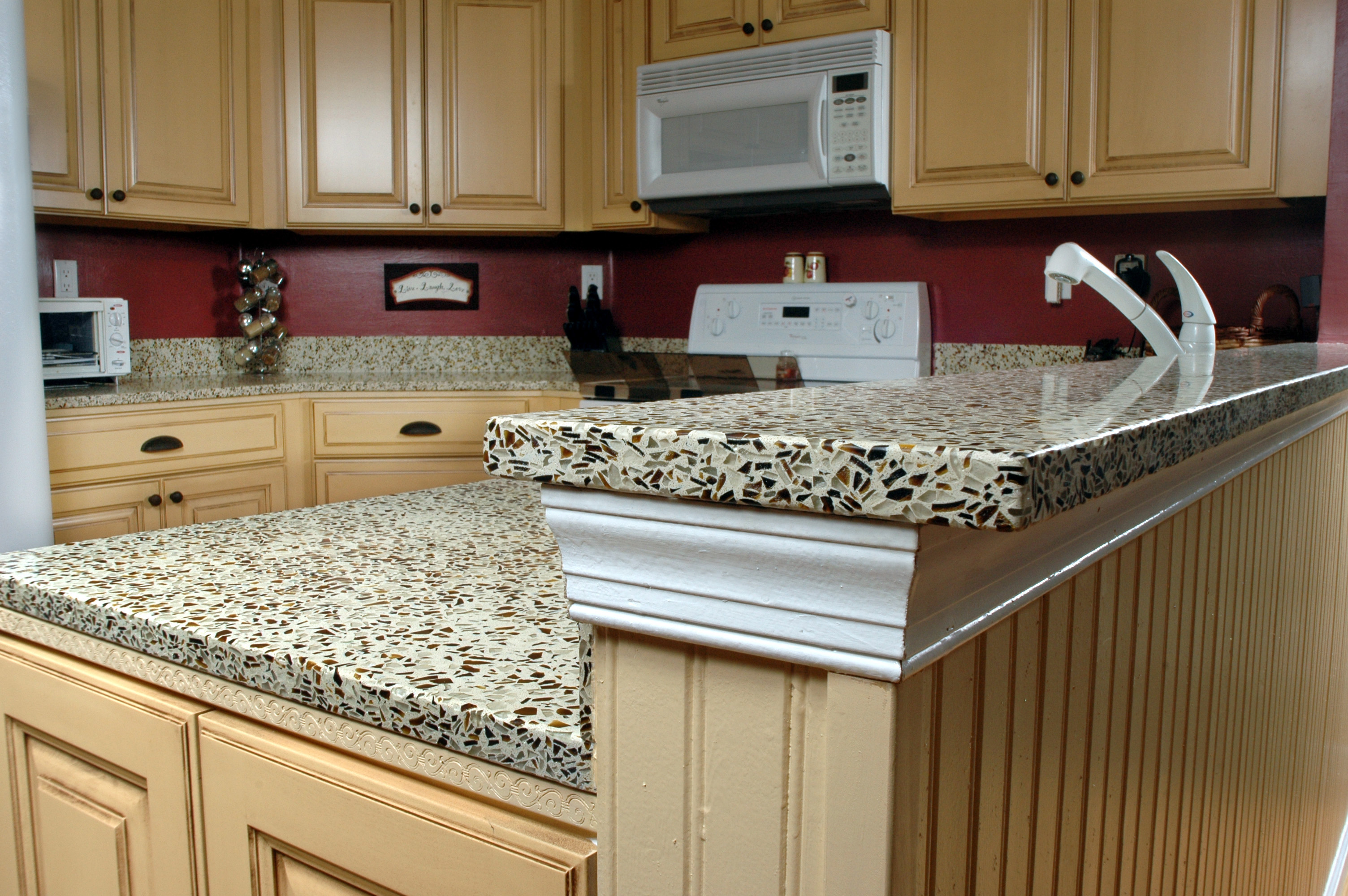 painting kitchen countertops ideas unique kitchen countertops Elegant Brown Painting Kitchen Countertops Ideas Image 5 of 10