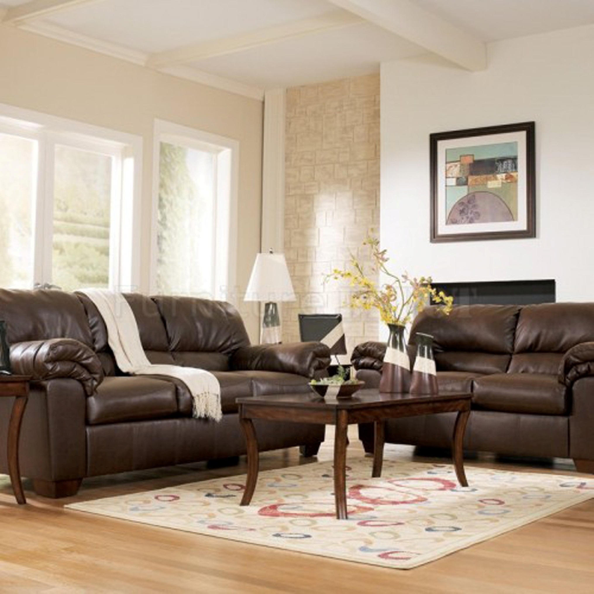 Brown Couches In Living Room Brown Leather Beige And White Living Room Best Site