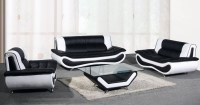 2018 Latest Black and White Leather Sofas | Sofa Ideas