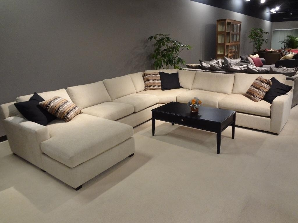 Large Sofas 20 Top Sectional Sofa With Large Ottoman Sofa Ideas