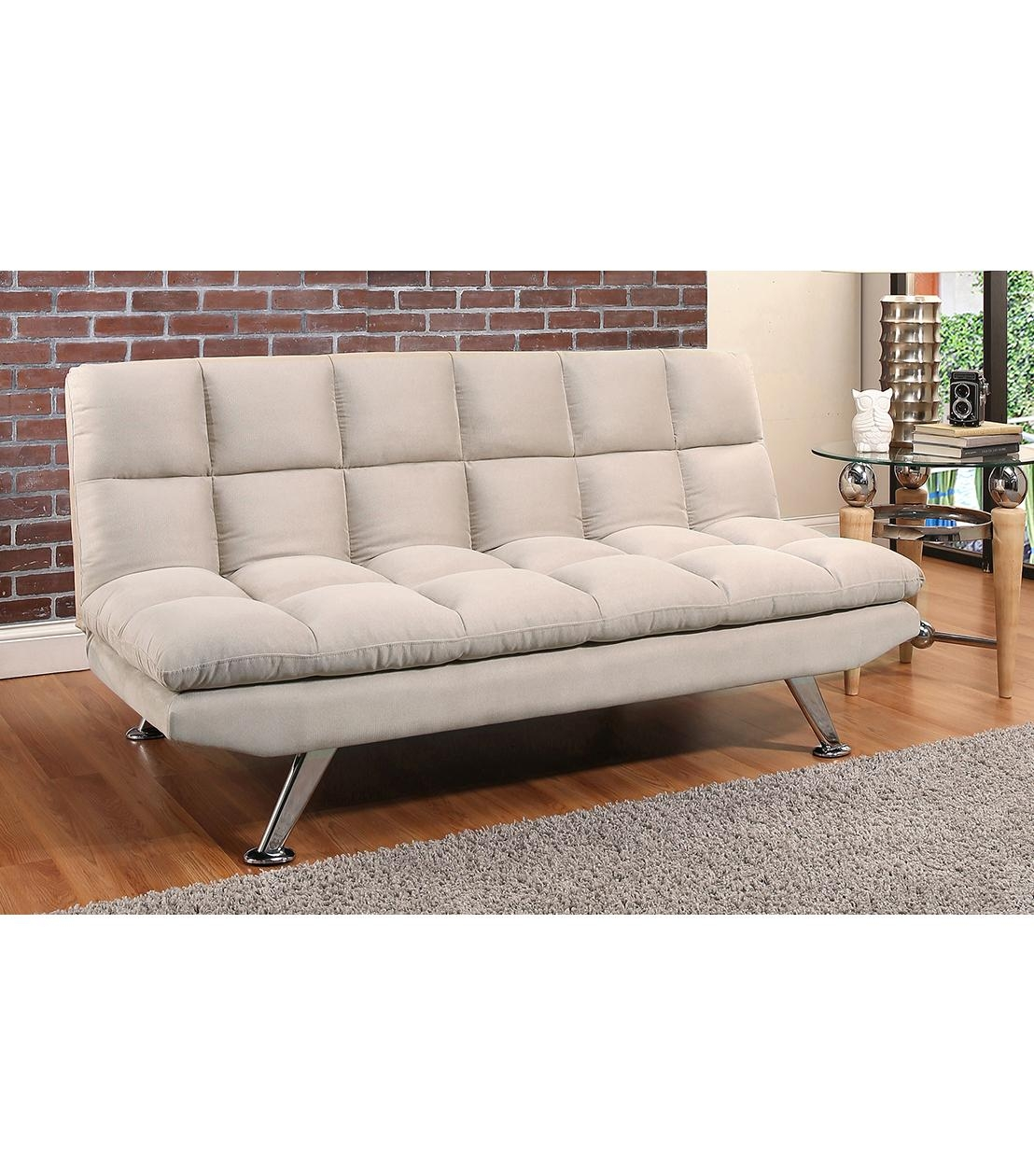 futons clarence beige fabric euro lounger