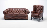Chesterfield Sofa And Chairs Hickory Leather Chesterfield ...