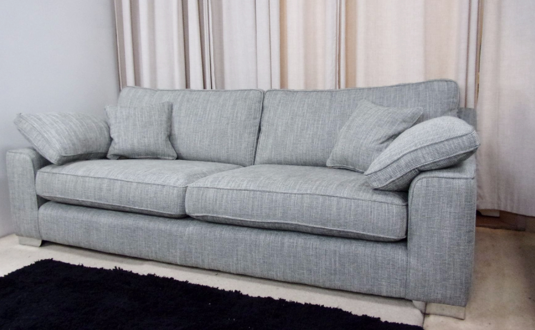 Big Seat Sofa 20 Best Collection Of Large 4 Seater Sofas Sofa Ideas