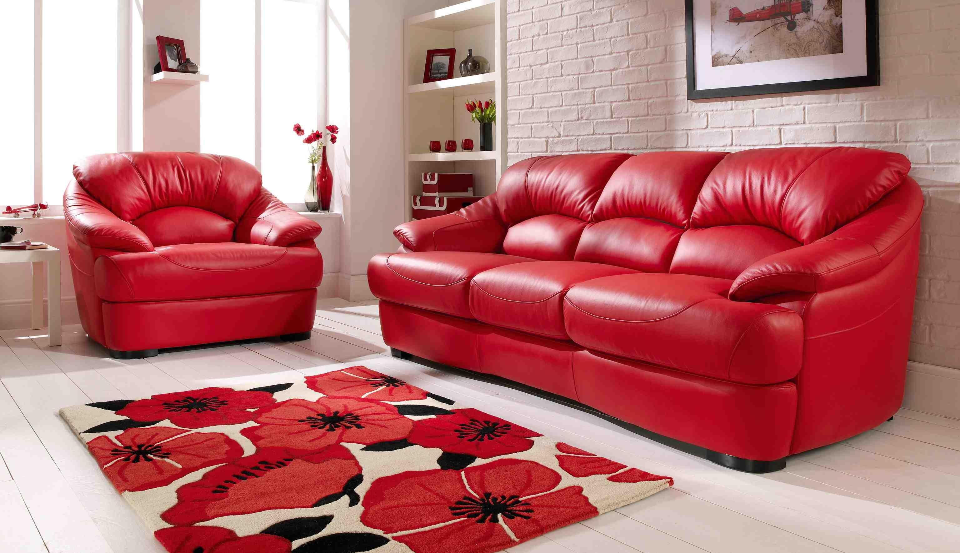 Leather Furniture Decorating Ideas 20 Photos Dark Red Leather Sofas Sofa Ideas