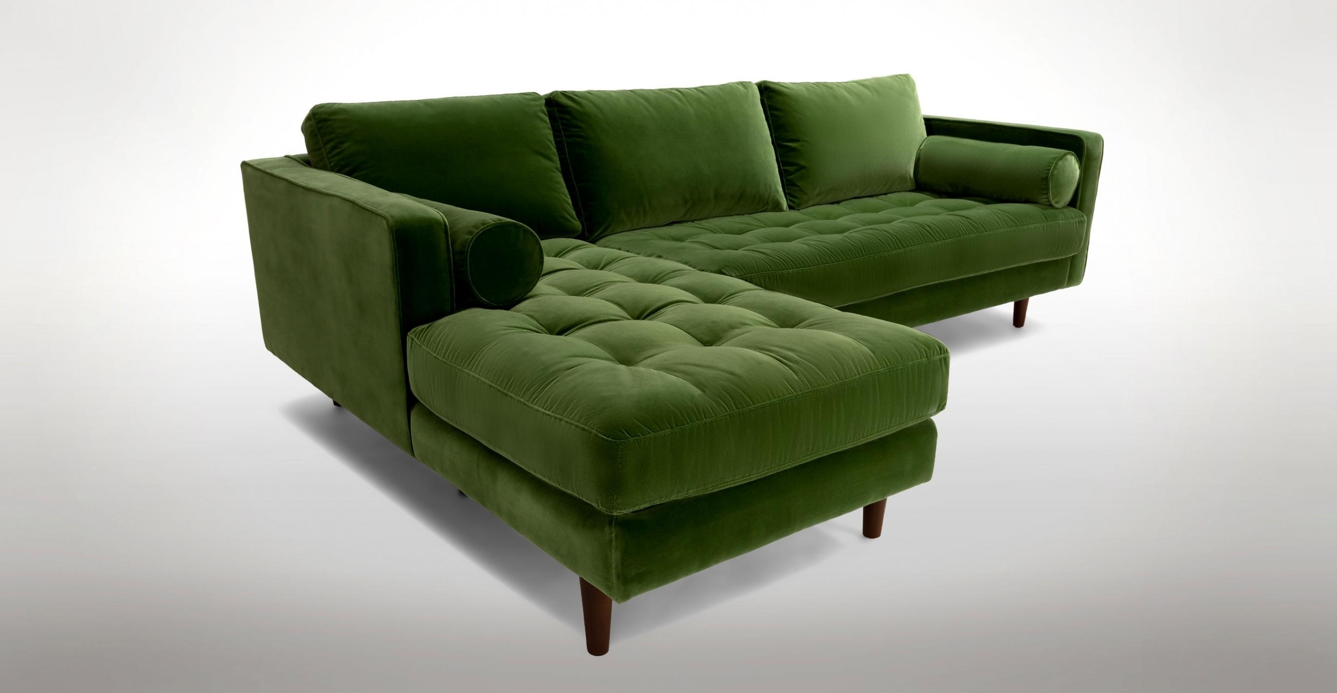 Green Settee 15 43 Choices Of Green Sectional Sofa With Chaise Sofa Ideas