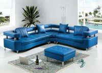 20 Collection of Blue Leather Sectional Sofas | Sofa Ideas