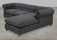 Tufted Chaise Sofa Lovely Tufted Sectional Sofa With ...