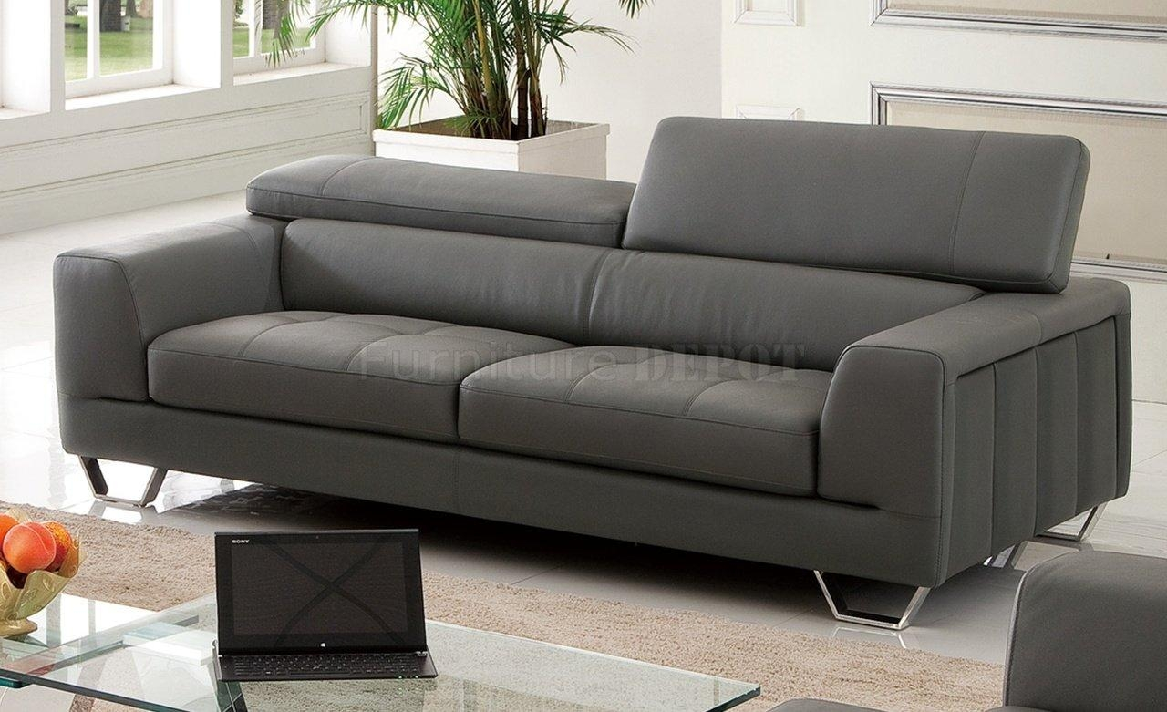 Gray Leather Sofa 2018 Latest Charcoal Grey Leather Sofas Sofa Ideas