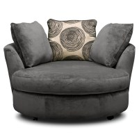 Swivel Sofa Chairs Doss Iva Fabric Microfiber Living Room ...