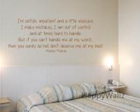 2018 Latest Marilyn Monroe Wall Art Quotes | Wall Art Ideas