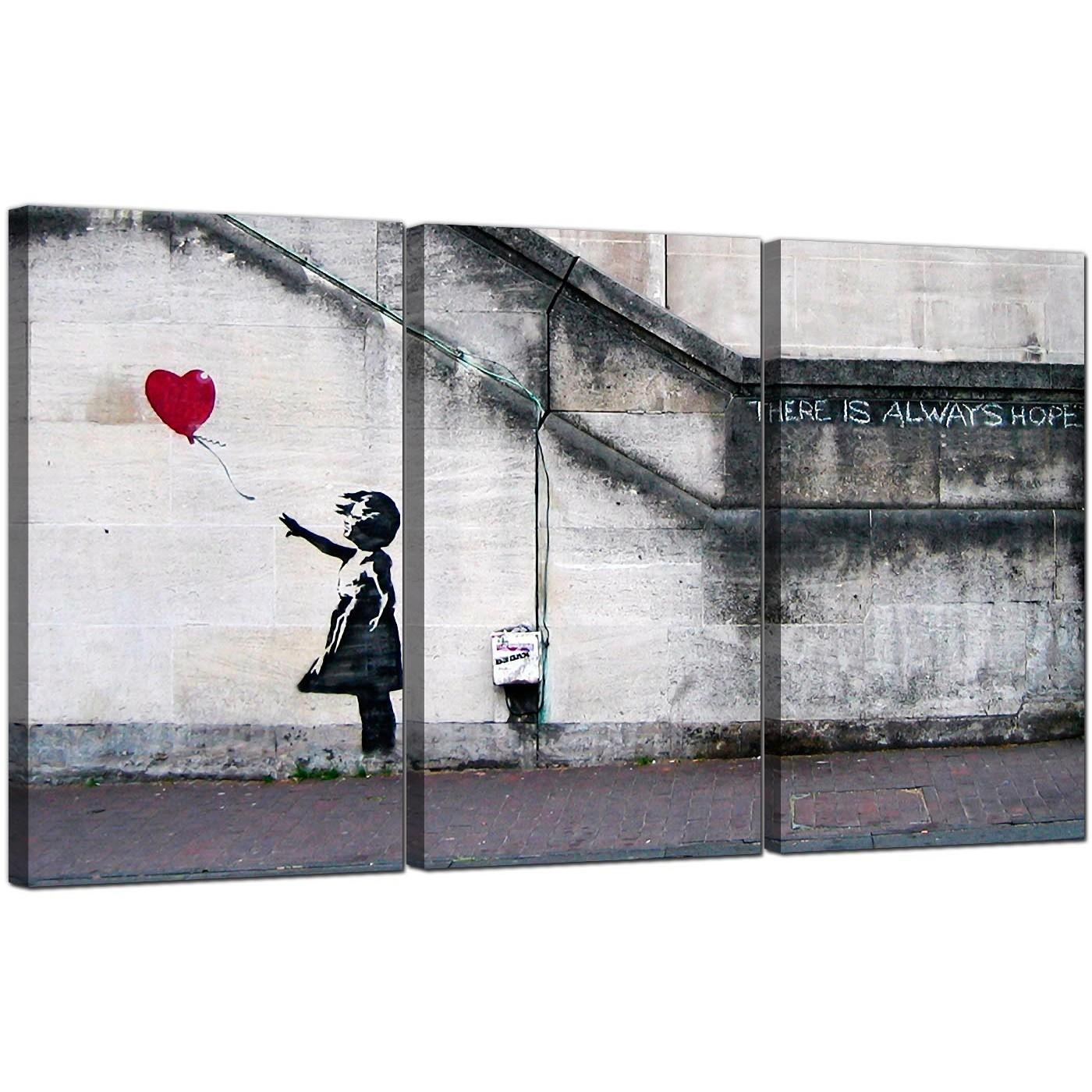 Banksy Canvas Art 20 Choices Of Banksy Canvas Wall Art Wall Art Ideas