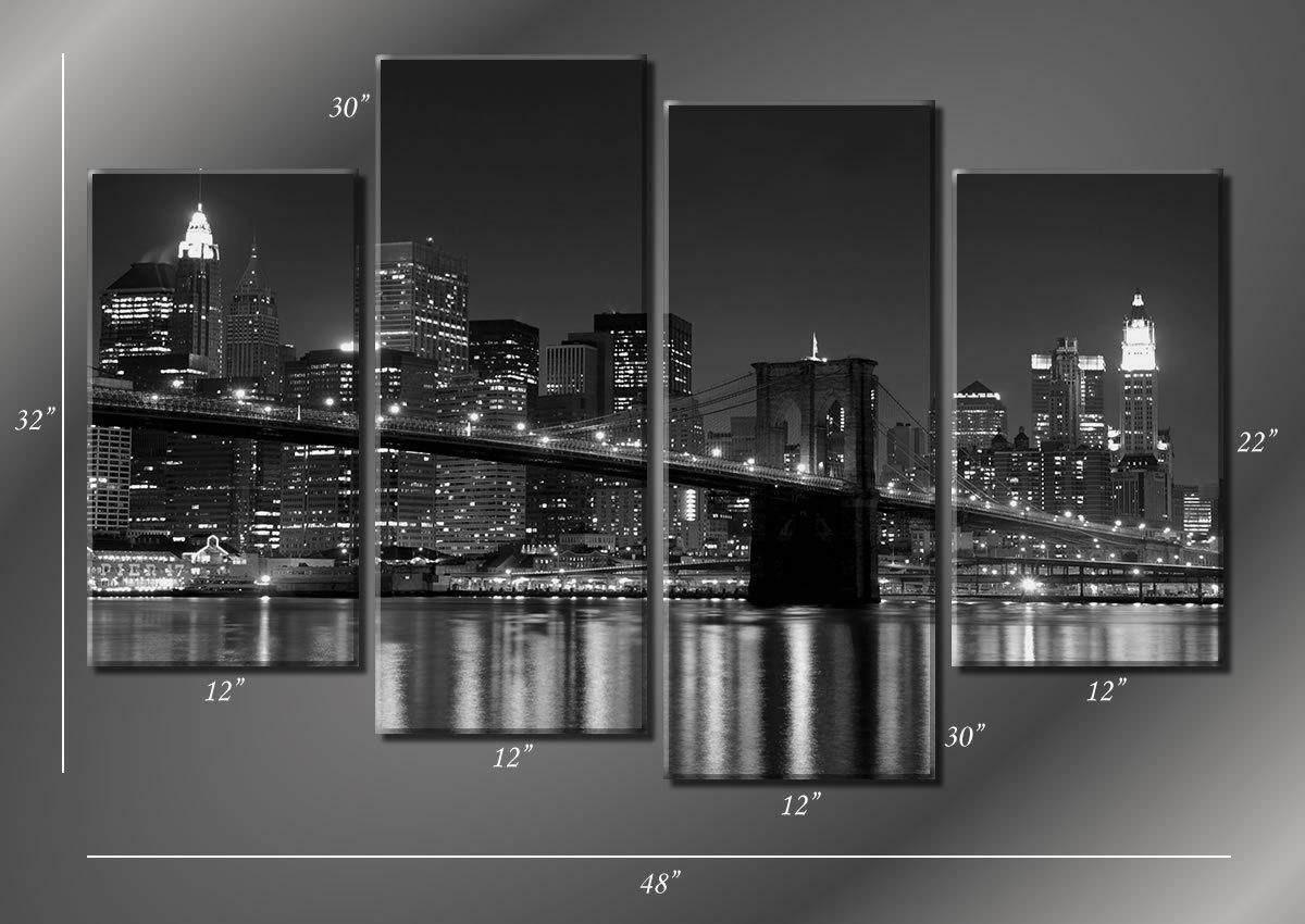 Black Removable Wallpaper 20 Inspirations Brooklyn Bridge Wall Decals Wall Art Ideas