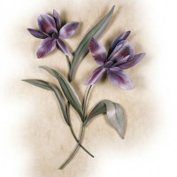 20+ Choices of Purple Flower Metal Wall Art | Wall Art Ideas