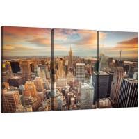 Highlights of new york skyline canvas wall art