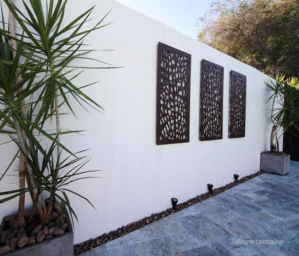 Grail Outdoor Screen And Wall Art Contemporary & Contemporary Garden Wall Art - Elitflat